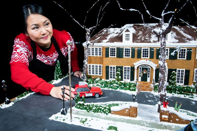 food artist michelle wibowo recreated the home alone house in gingerbread form