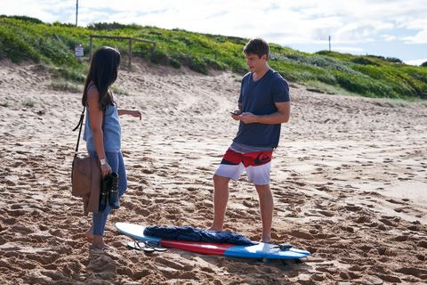 colby thorne at the beach in home and away