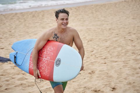 Colby Thorne is happy in Home and Away