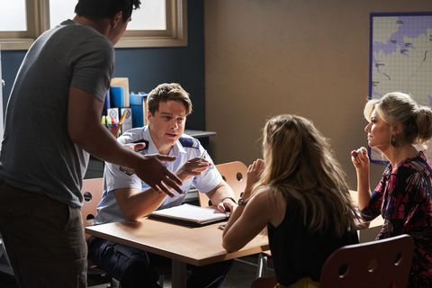 justin morgan, colby thorne, tori morgan and marilyn chambers in home and away