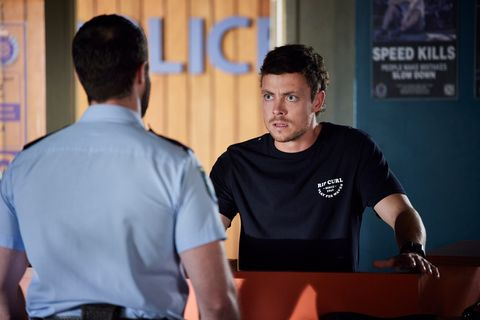 dean thompson heads to the police station in home and away