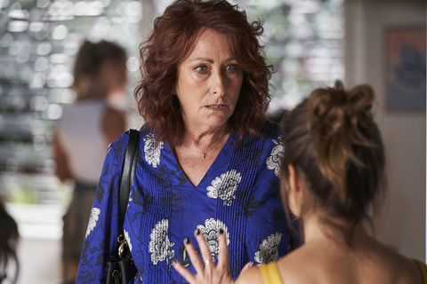 Irene Roberts and Leah Patterson-Baker discuss their next move in Home and Away