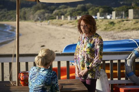 Marilyn Chambers and Irene Roberts worry about Robbo in Home and Away