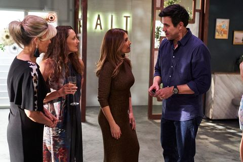marilyn chambers, roo stewart, leah pattersonbaker and justin morgan in home and away