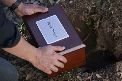 mason morgan's ashes are buried in home and away