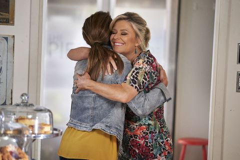 leah patterson baker is welcomed back to work in home and away