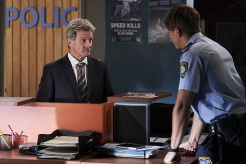 Rick Booth visits Colby Thorne in Home and Away