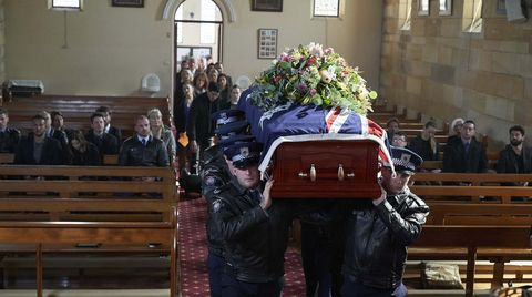 Robbo Shaw's funeral in Home and Away