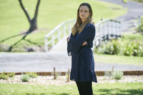 tori morgan at the graveyard in home and away