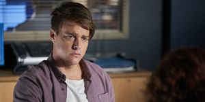 Colby Thorne interviews Irene Roberts in Home and Away