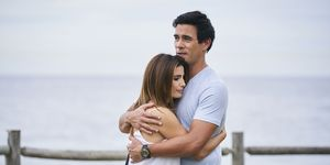 Leah Patterson-Baker and Justin Morgan in Home and Away