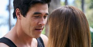 Justin Morgan and Leah Patterson-Baker in Home and Away