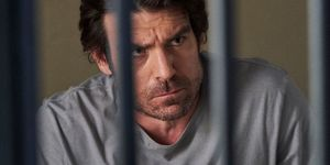 Ben Astoni in a cell in Home and Away