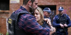 Robbo Shaw and Jasmine Delaney in Home and Away