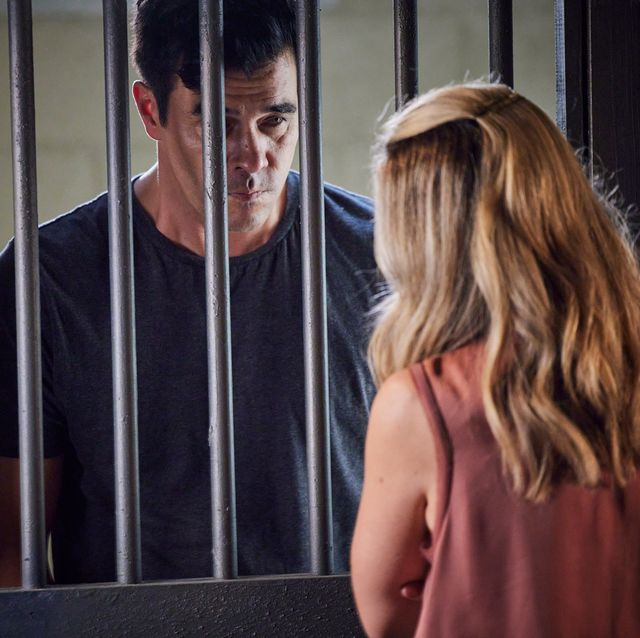 tori morgan visits justin morgan in a police cell in home and away