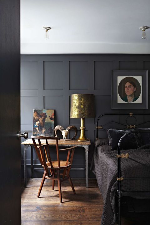black eclectic bedroom