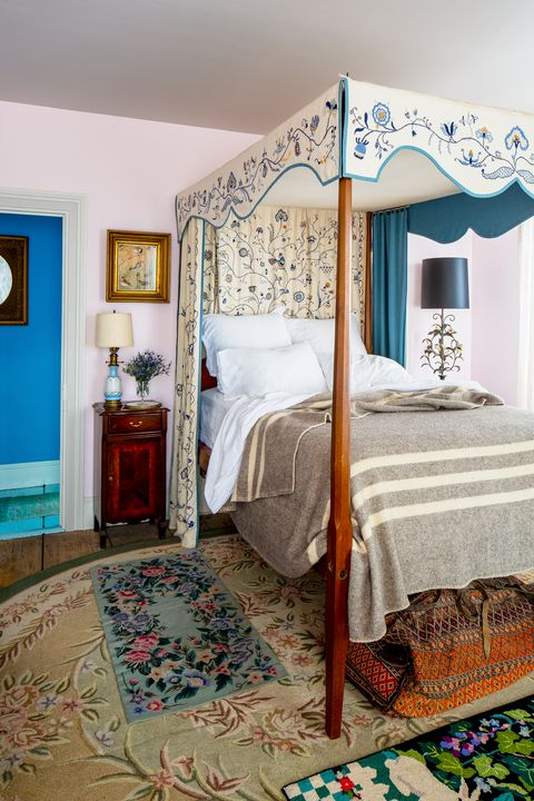 colorful bohemian bedroom