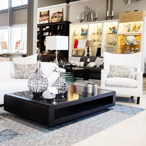 Home decor store displaying elegant furniture and accessories