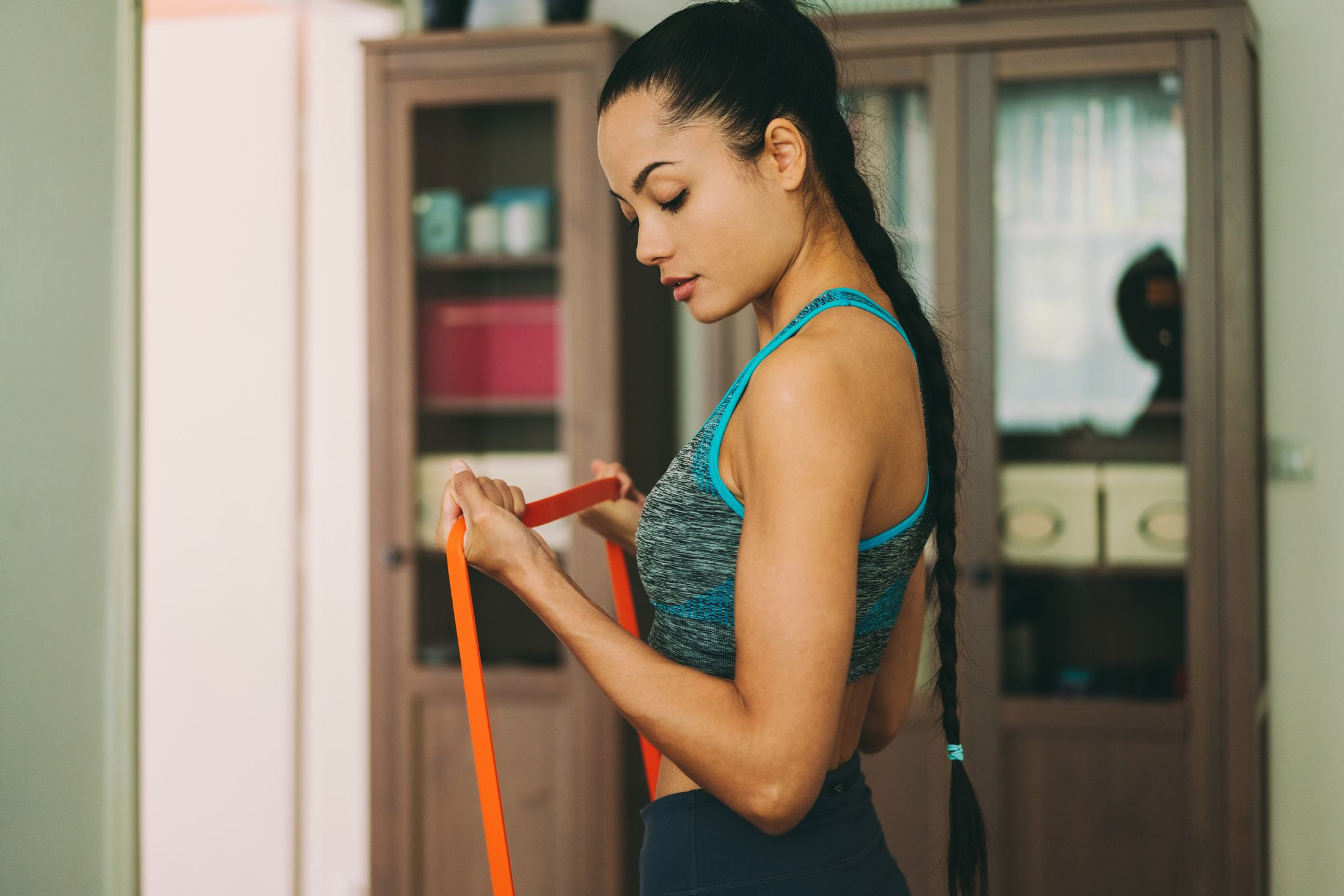 Try these long resistance band exercises for a killer at-home workout