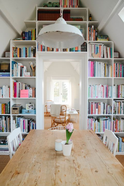home library ideas high ceiling