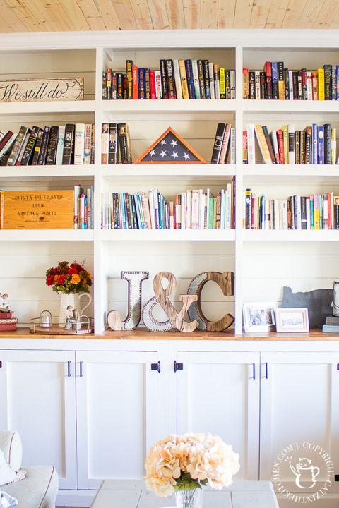 home library ideas shiplap