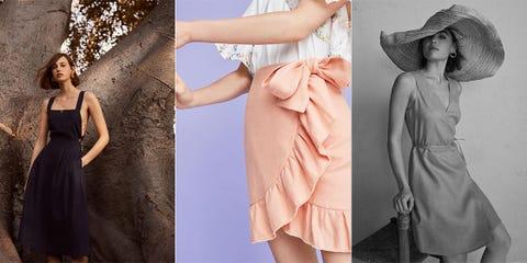 Clothing, Dress, Fashion model, Skin, Beauty, Fashion, Shoulder, Textile, Fashion accessory, Fashion design,