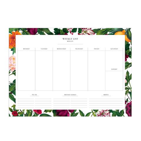 weekplanner - the english garden