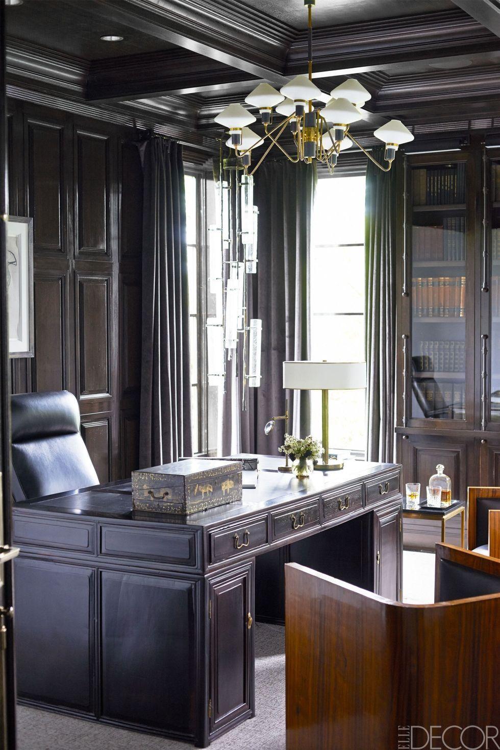 Home office design ideas Small Spaces Homeofficeideas Elle Decor Stylish Home Office Ideas Chic Home Study