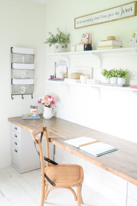 Home Office Ideas - Butcher Block Desk