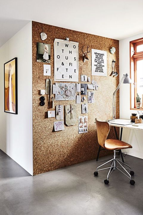 Home Office Ideas - Cork Wall