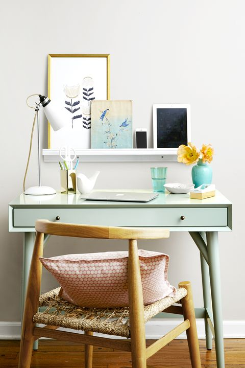 Home Office Ideas - Teal Desk