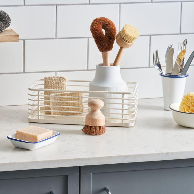 organized kitchen countertop