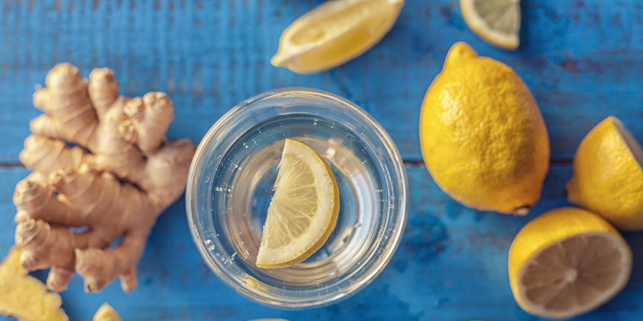 Lemon and ginger root infused water
