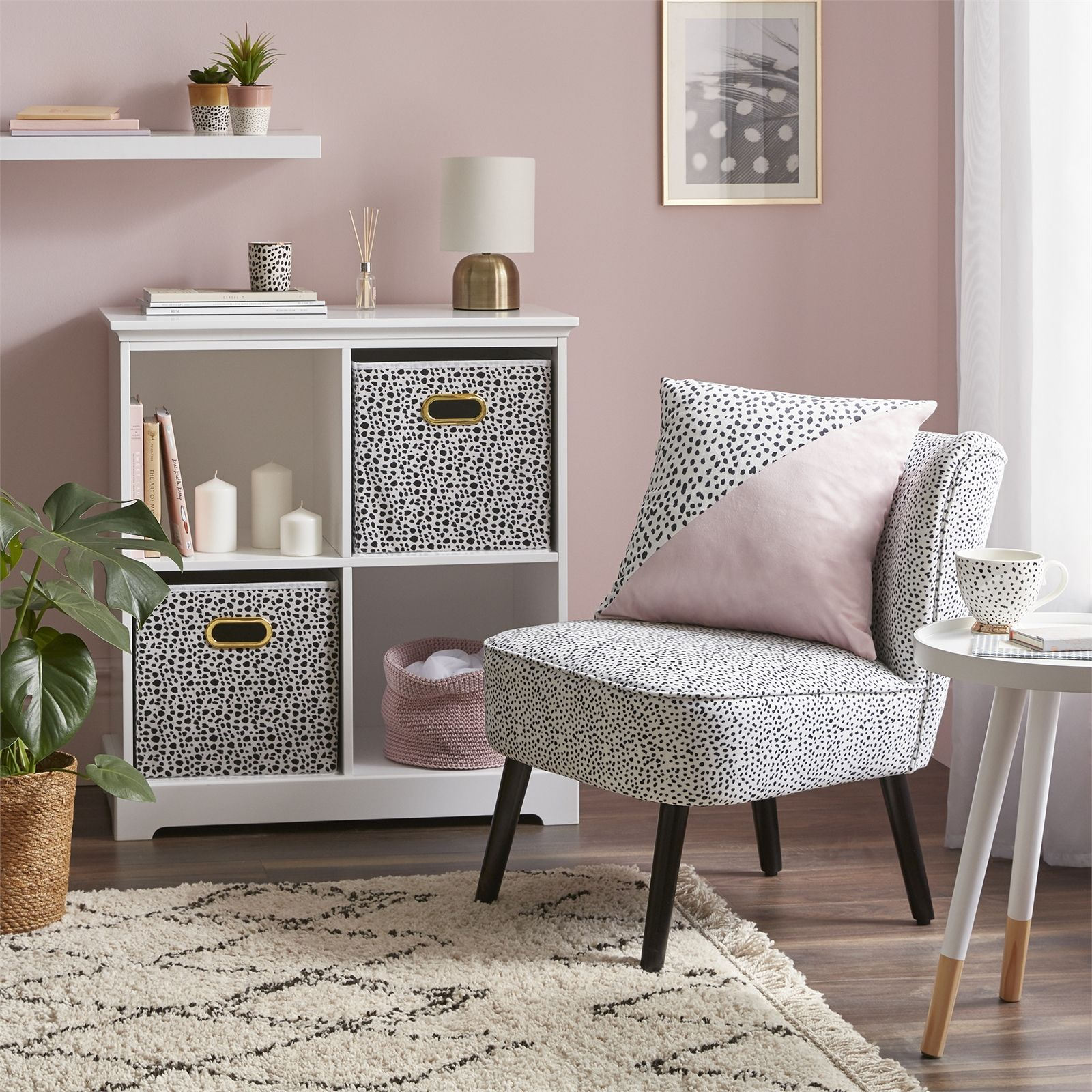 Homebase Occasional Chair In Dalmatian Print Is On Sale For £12