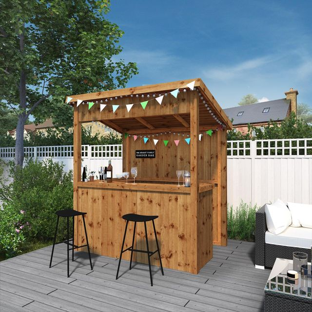 homebase's outdoor range includes a garden bar, fire pit  cocktail shakers
