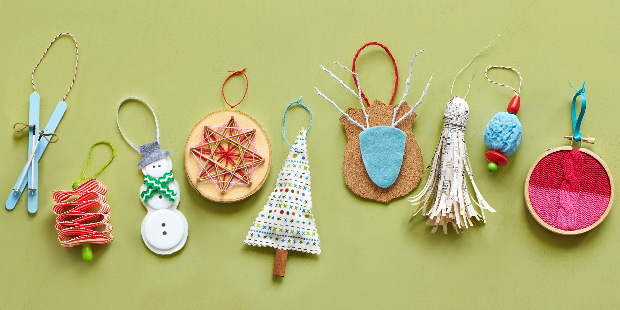 50 Homemade Christmas Ornaments - DIY Crafts with Christmas Tree ...