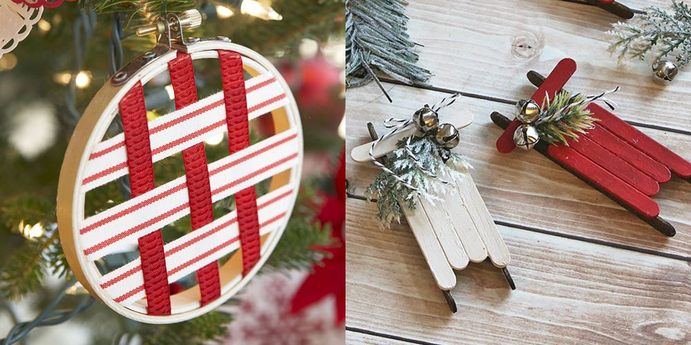 55 homemade christmas ornaments diy handmade holiday tree ornament rh goodhousekeeping com christmas decorations diy ideas christmas ornaments craft ideas