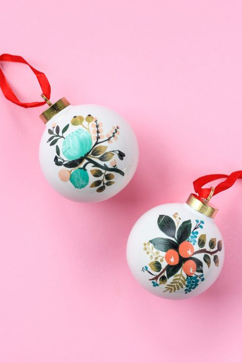 homemade christmas ornaments floral