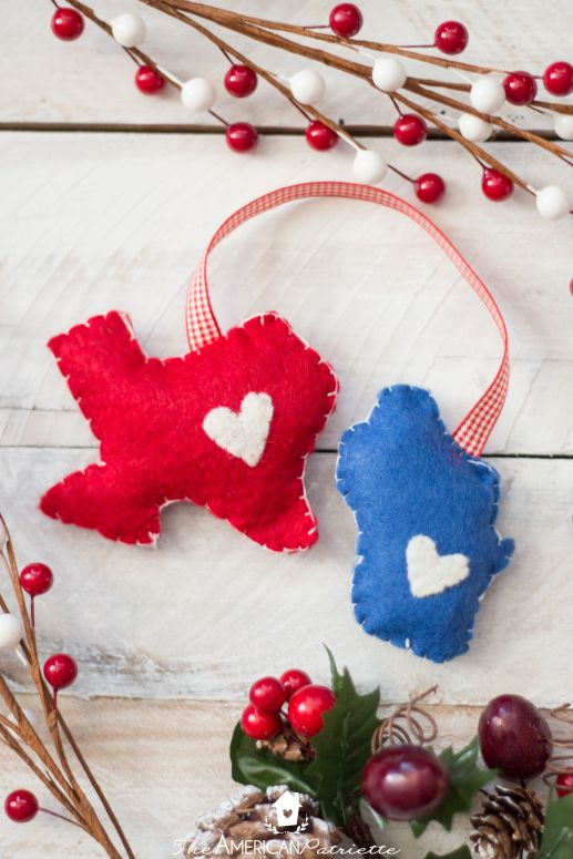 homemade christmas ornaments home state