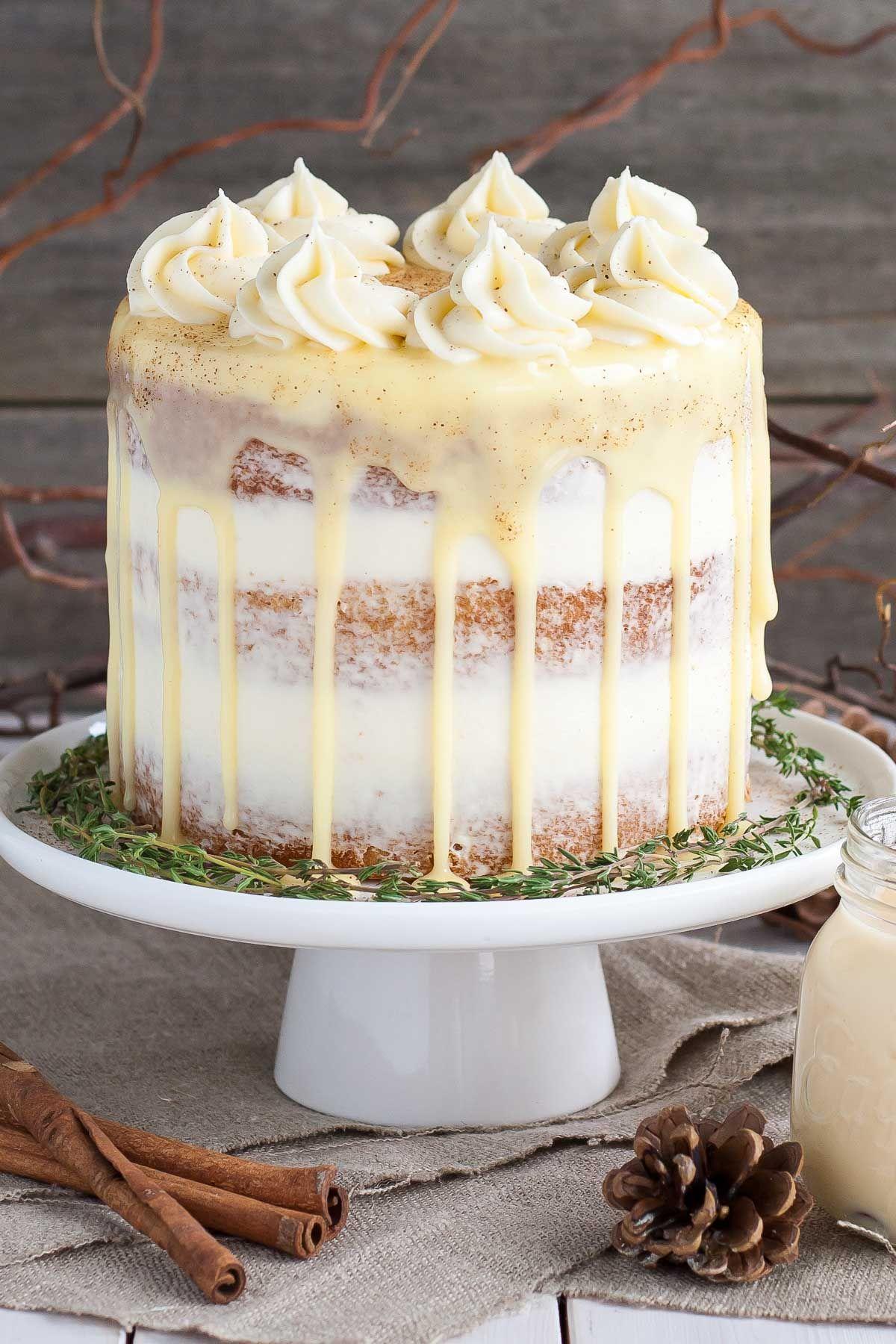 homemade eggnog desserts cake