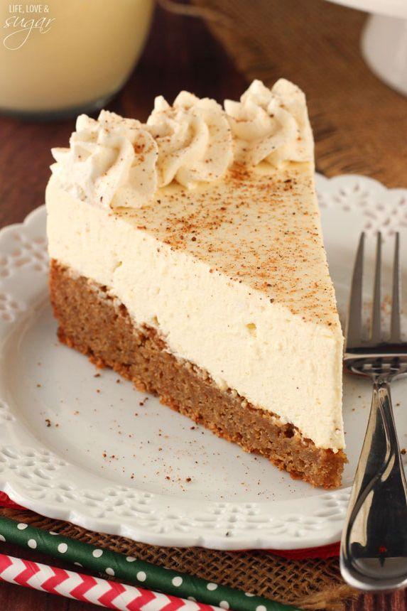 homemade eggnog desserts cheesecake
