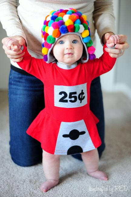 homemade halloween costume baby gumball machine