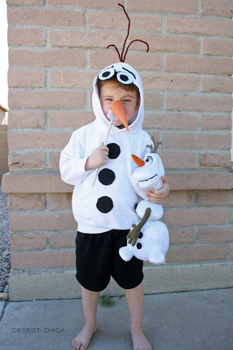 homemade olaf halloween costume