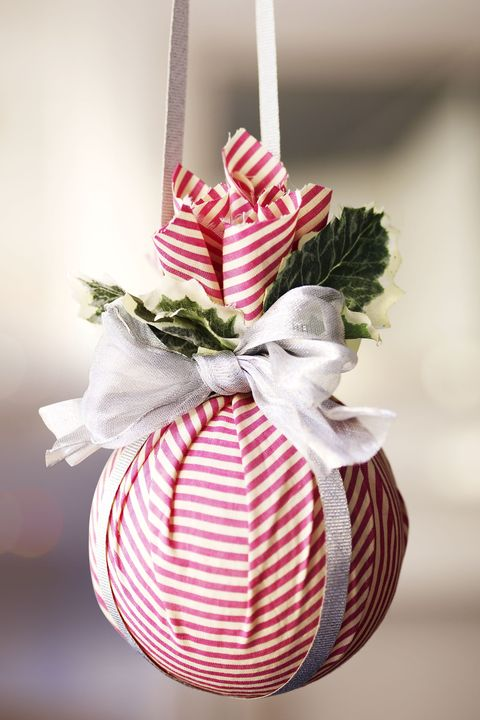 homemade kissing ball ornament