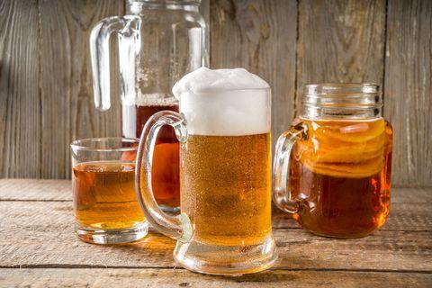 homemade kombucha beer