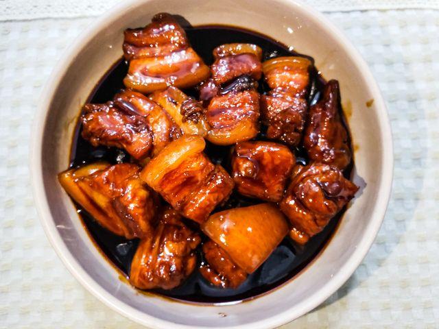 homemade red braised pork