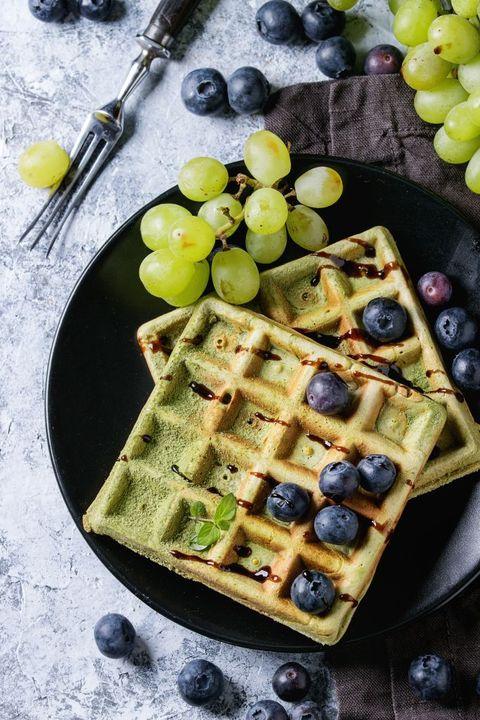 葡萄抹茶鬆餅