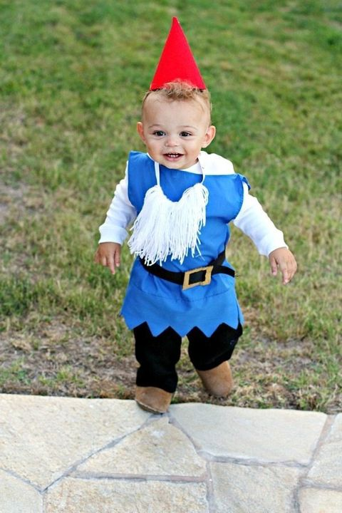 homemade toddler halloween costume garden gnome