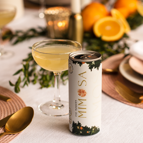 canned mimosa on table