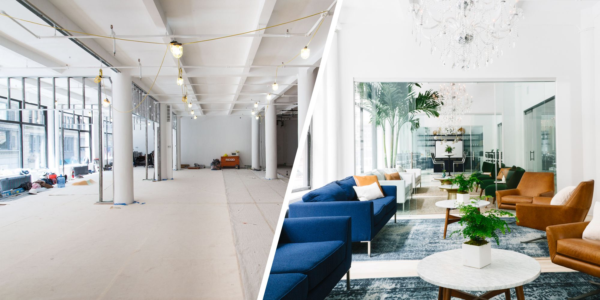 Before + After: Homepolish Gives Its New Office Space A Sleek And Cozy Look